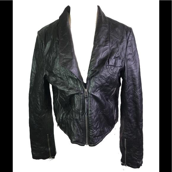 Barneys New York Jackets & Blazers - Barney originals 100% leather corset jacket US12